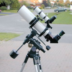 A small German Equatorial Mount - too lightweight for astrophotography